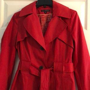 Red Via Spiga raincoat